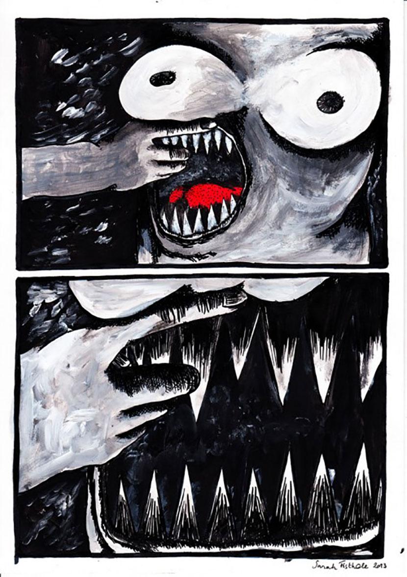 'Nichons carnivores' – Sarah Fisthole