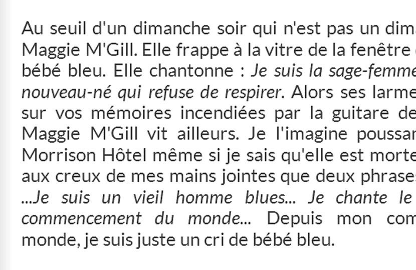 «À propos d'une visite de Maggie M'Gill» – Christian Déquesnes