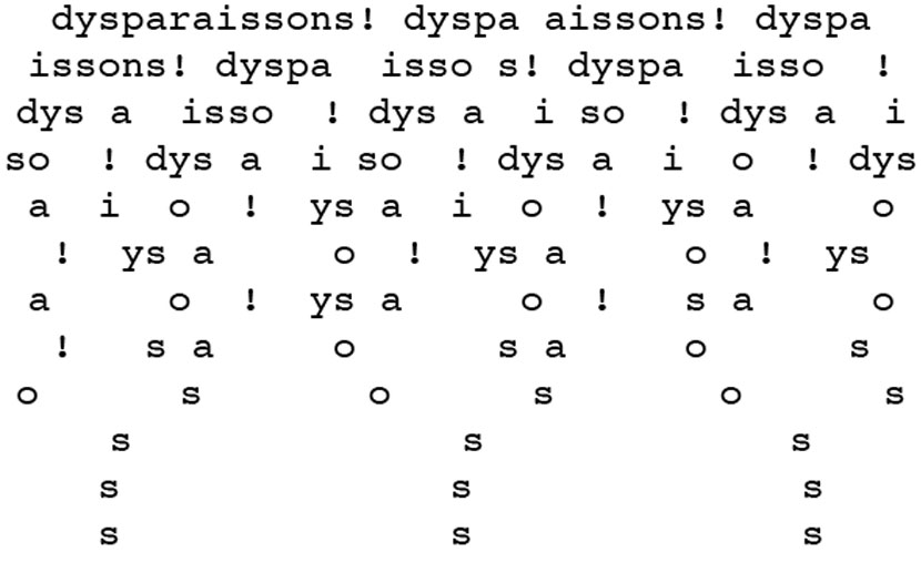 « Dysparaissons! » – Igor Myrtille