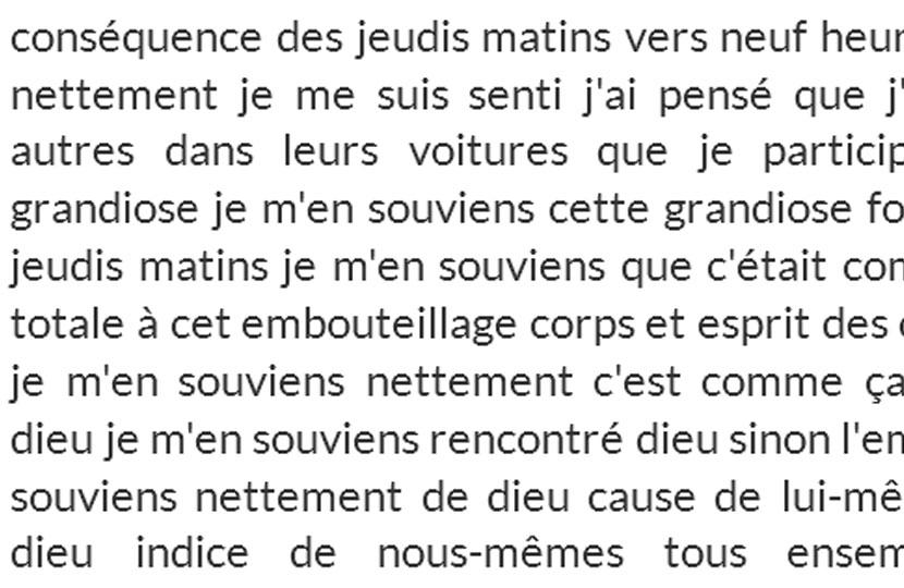 «J'ai trouvé dieu» – Sébastien Lespinasse