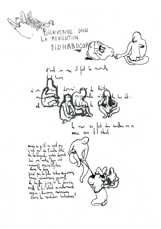Extraits de la série «Papier machine» – Antoine Boute (texte) & Chloé Schuiten (dessin)
